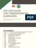 2015 NCAE Guidelines