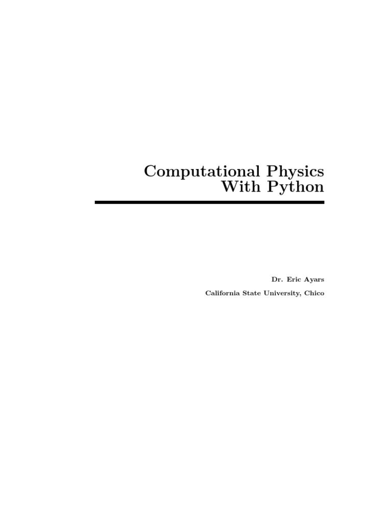 Computational Physics With Python   String (Computer Science