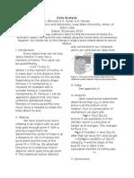 Physics 242 Lab 1 Data Analysis