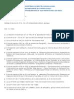 Reglamento Servicios Telecomunicaciones