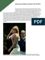 Dustin Johnsonhs seksi pacar Paulina Gretzky Curi di 2013 Masters