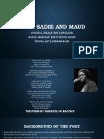 Poem Sadie and Maud