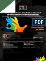 FIBA WC Spain 2014 Ticket Guide Spa