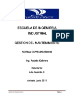 Resumen Norma COVENIN 2500 93