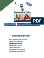 Grammatical Units, By Dr. Shadia Yousef Banjar