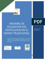 Informe de Validacion Del Ventilador en El Horno Tradicional Final
