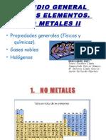 ESTUDIO GENERAL DE LOS ELEMENTOS. NO METALES II