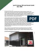 Iklan Rumah Dijual Di Cakung, 900 Juta Rumah Cantik Oke- SHM