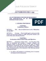 Batas Pambansa Blg. 232 - Education Act of 1982