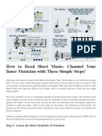 How to Read Sheet Music