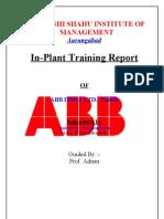 project report on ABB INDIA LTD., Nashik