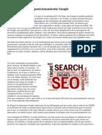 Optimizacion Web posicionamiento Google