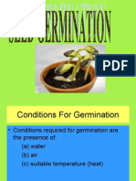 Seed Germination and Vegetative Repro