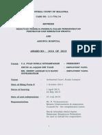 Industrial Court Award:::AWARD NO