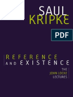 Saul Kripke Reference and Existence the John