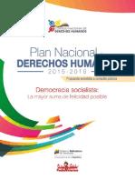 Plan Nacional Derechos Humanos