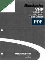 Waukesha VHP 6 Cylinders Parts Catalog G/GSI/GL