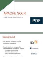 Apache Solr Presentation