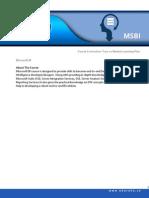 MSBI Course Curriculum