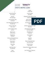 Trinity Song List