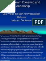 Team Dynamics and Leadership of EGK