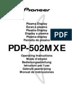 Plasma Pioneer Pdp-502mxe1