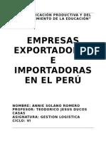 Empresas importadoras y exportadoras en el peru