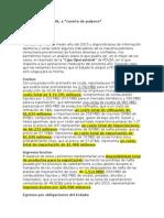 PDVSA. Estimacion Flujo de Caja 2015