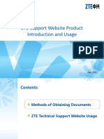 ZTE Support Website Product Document Introduction and Usage