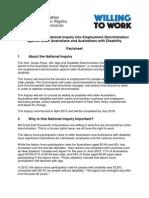 willing to work inquiry factsheet