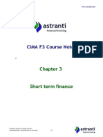 CIMA F3 Notes - Financial Strategy - Chapter 3