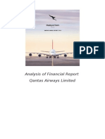 Analysis of Qantas Airways Financial Report