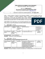 Notification CIMFR Jharkhand Technical Assistant Asst Jr Steno Posts