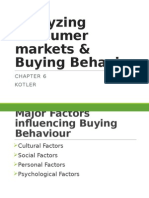Analyzing Consumer Markets & Buying Behavior