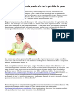 C?mo la dieta adecuada puede afectar la p?rdida de peso