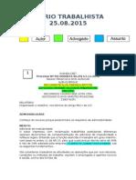 Diário Trabalhista 25.08.2015