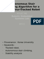 Autonomous Stair Climbing Algorithm for a Small Four-Tracked Robot