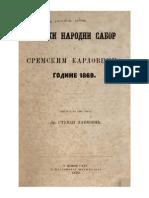 Stevan Pavlović-Srbski Narodni Sabor u Sremskim Karlovcima Godine-1869