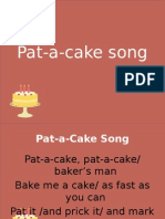 Pat-a-cake song