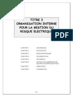 Surete Electrique Etablissements de Sante - Titre 3 - Organisation Gestion Risque Electrique
