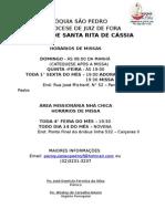 Paróquia São Pedro Panfleto