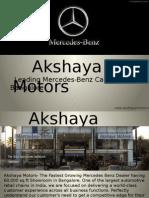 Mercedes Benz Dealers Bangalore - Akshaya Motors