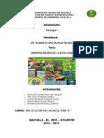 Generalidades de la Ecología
