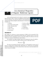 Principles of Organic Medicinal Chemistry Chapter 3 Physico Chemical Properties of Organic Medicinal Agents[1]