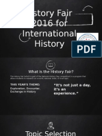 2016 history fair - international history