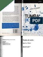 Tumba de Sueño (Jean-Luc Nancy)