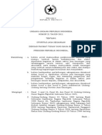 Uu No. 21 Tahun 2011 Ttg Otoritas Jasa Keuangan