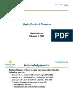 Hertz Contact Stresses Sullivan