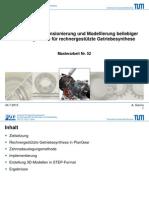 Methode zur Dimensionierung beliebiger Planetengetriebe in rechnergestützte Getriebesynthese