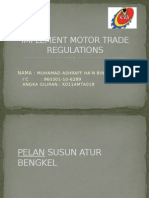 Implement Motor Trade Regulations Hanz